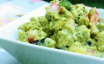 Fruity Guacamole with Summer Basil