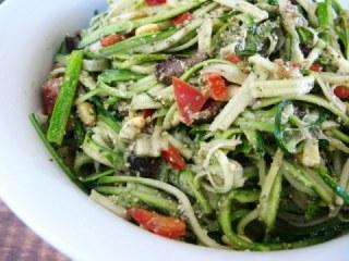 Zucchini Linguine with Basil Pesto