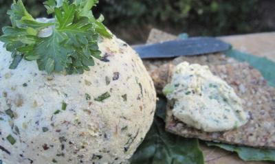 Raw Vegan Herbed Cheese
