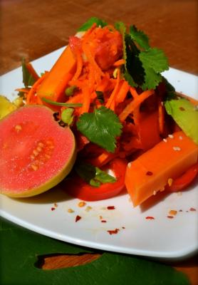 Guava, Carrot and Avocado Salad