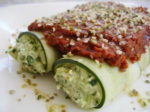 Raw Vegan Spinach Manicotti by Natalia