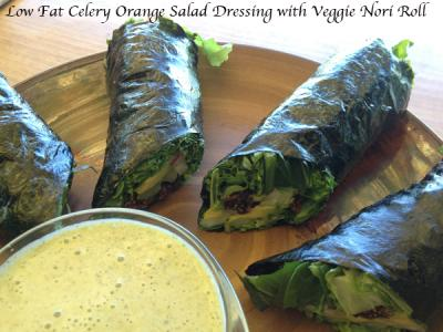 Oil Free Celery Orange Salad Dressing