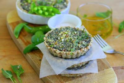 Portobello Mushroom and Curried Spinach Quiche by Golubka