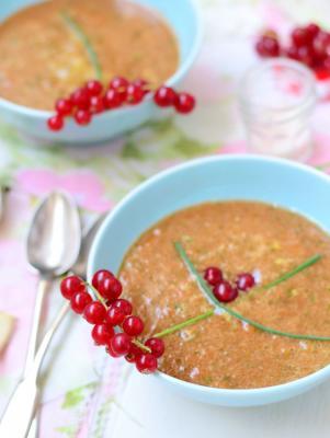 Raw, Warm Tomato Soup