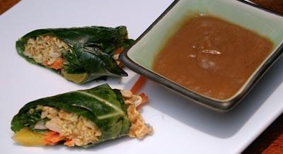 Spicy Thai Vegetable Wraps by Sarma Melngailis