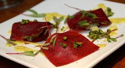 Red Beet Ravioli by Sarma Melngailis