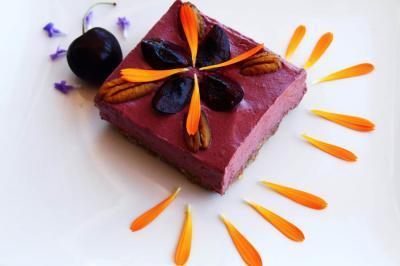 Cherry Thimbleberry Ice Cream Bar by Julia Corbett