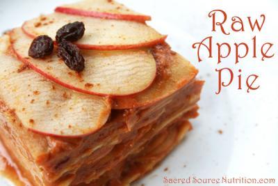 Low Fat Raw Vegan Apple Pie
