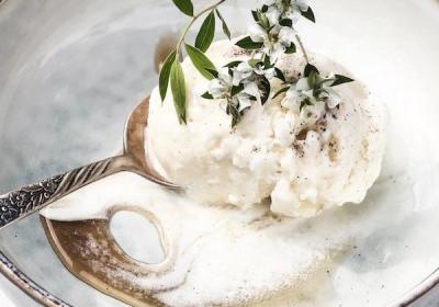 Vegan Coconut Ice Cream with Vanilla