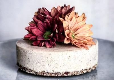 Mini Raw 'Salted Caramel' Tahini Cheesecake