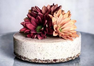 Mini Raw 'Salted Caramel' Tahini Cheesecake