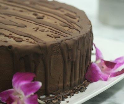 Triple Layer Chocolate Cake by Matthew Kenney