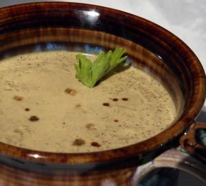Aphrodisiac Cream of Sage, Rosemary and Thyme Holiday Soup by Christian Bates
