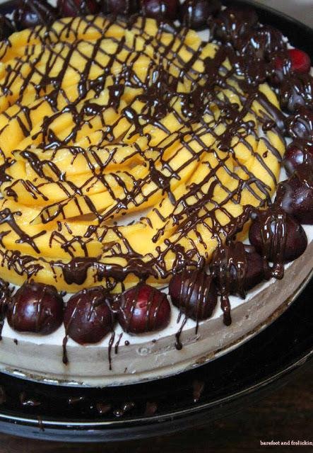 Vanilla Chocolate Cherry Cheesecake