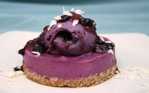 Wild Blueberry Cheesecake with Blueberry Jelly Topping