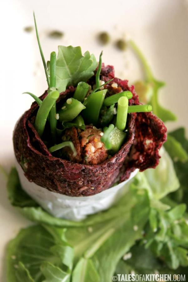 Beetroot and Celery Wrap