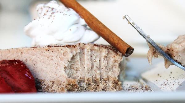 Cinnamon Coconut New York Style Cheesecake