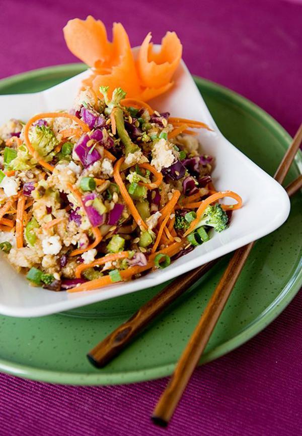 Veggie Un-Fried Jicama Rice