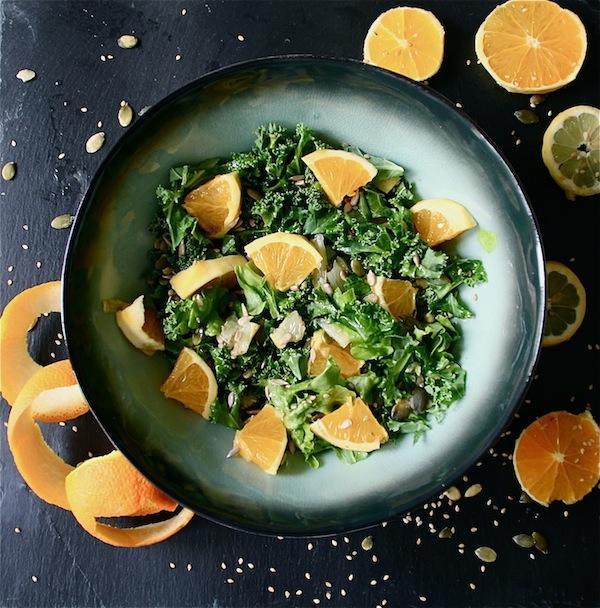 Fresh Kale and Citrus Salad