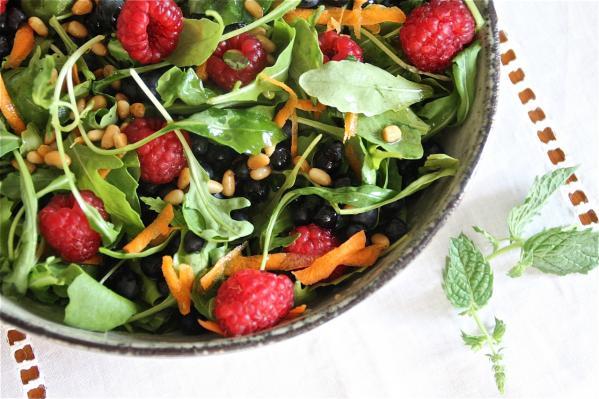 Fresh Summer Salad Made in Prague