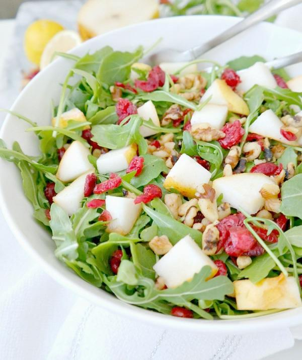 Arugula Pear and Walnut Salad
