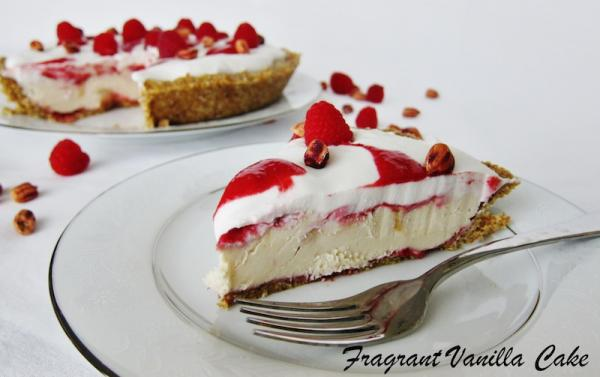 Raw Peanut Butter and Jelly Cream Pie