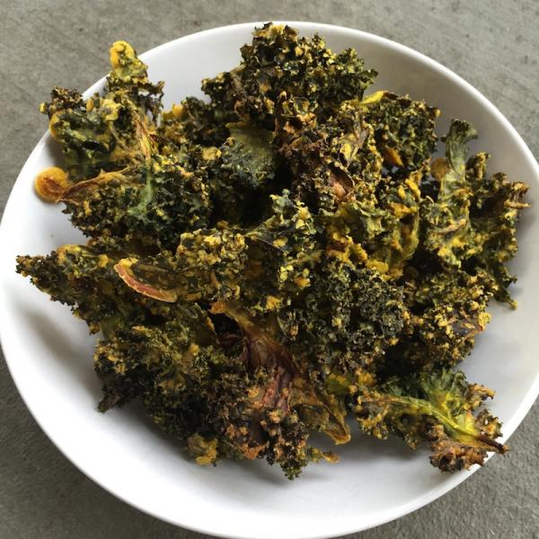 Nut-Free Cheezy Kale Chips
