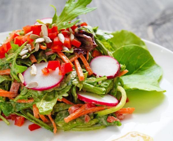Summertime Lemon Tahini Salad