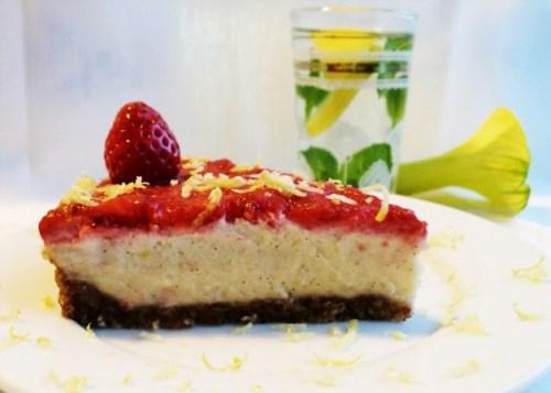 Strawberry Lemon Cheesecake by Carla Aguas