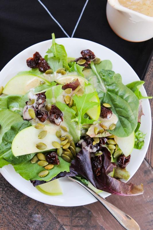 Cranberry Apple Salad with Pepitas and Apple Cider Vinaigrette