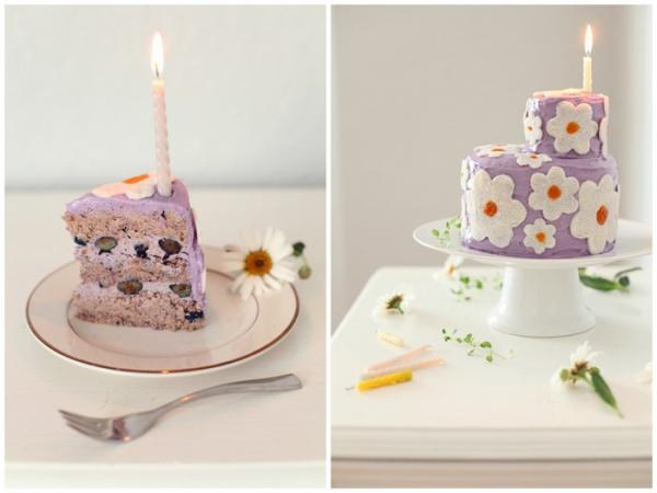 Wild Blueberry Daisy Cake