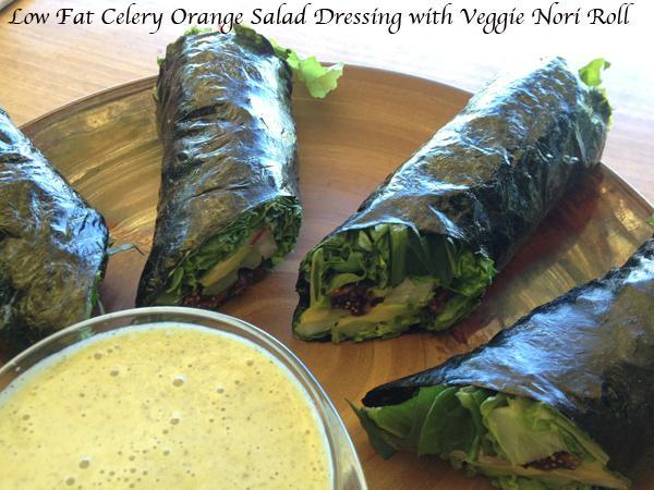 Oil Free Celery Orange Salad Dressing