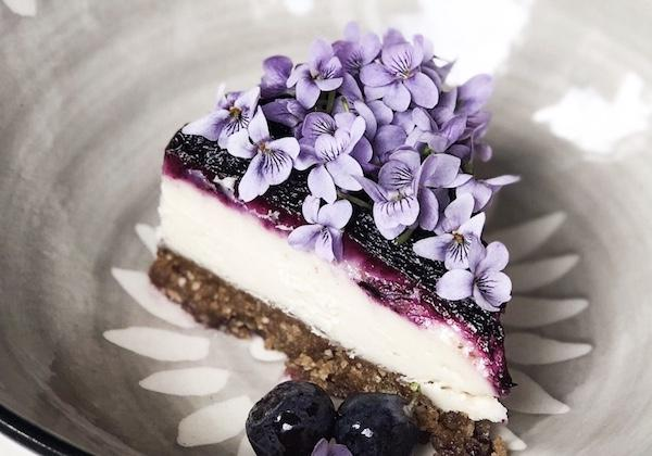 Wild Blueberry Cream Cake