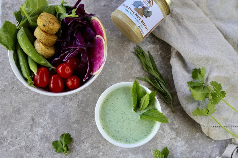 Wild Green Tarragon and Cilantro Pine Nut Dressing