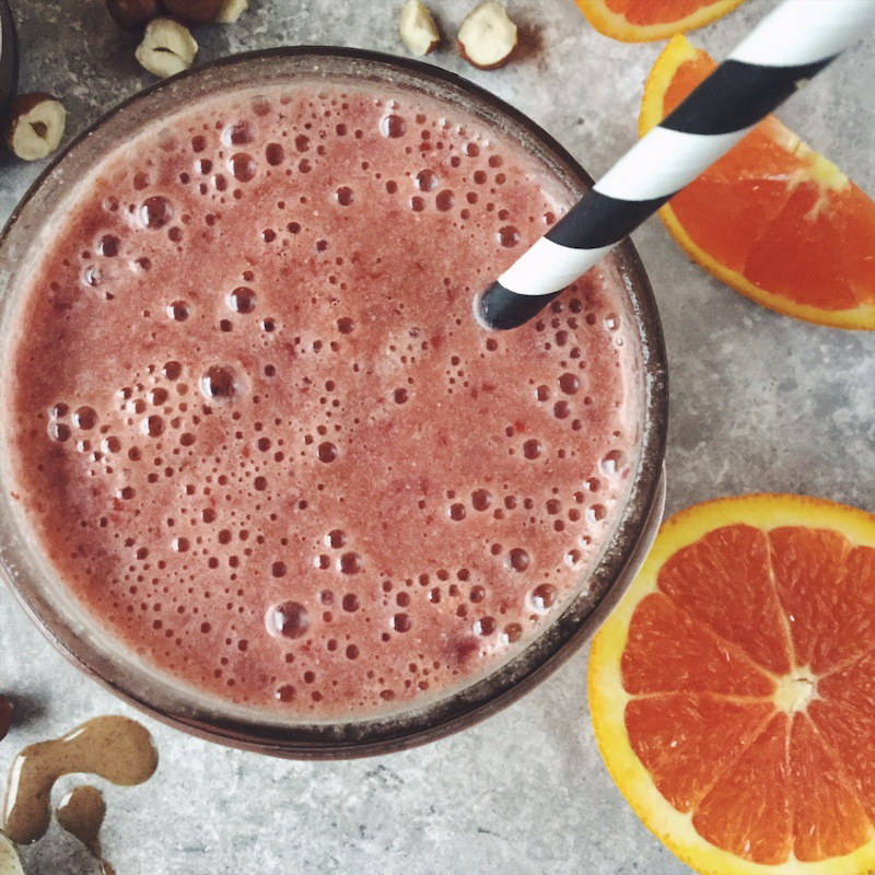 Cherry Hazelnut Citrus Burst Smoothie