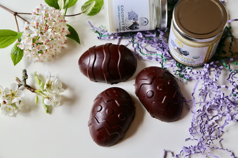 Raw Vegan Coconut Creme Filled Easter Eggs