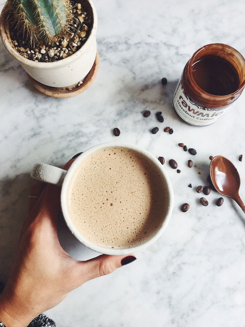 Vegan Chocolate Hazelnut Mocha Latte