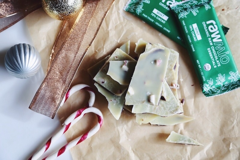 Healthy Organic Vegan Peppermint Bark