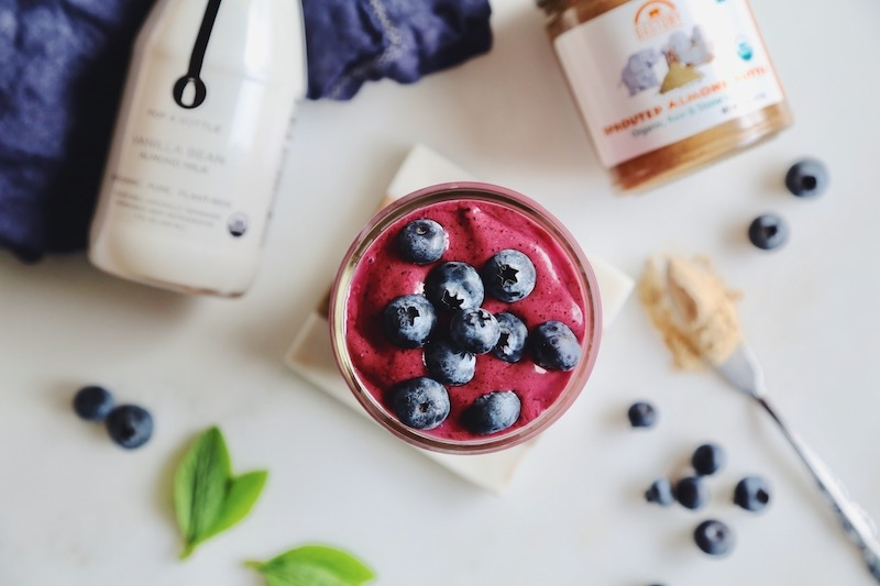 Antioxidant-Packed Sprouted Almond Berry Blast Smoothie for Glowing Skin