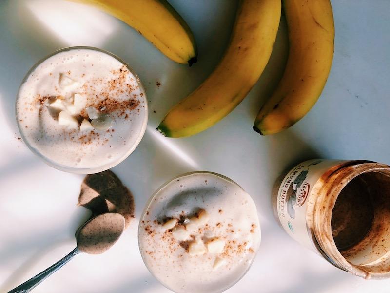 Vegan Almond Macadamia Banana Shake
