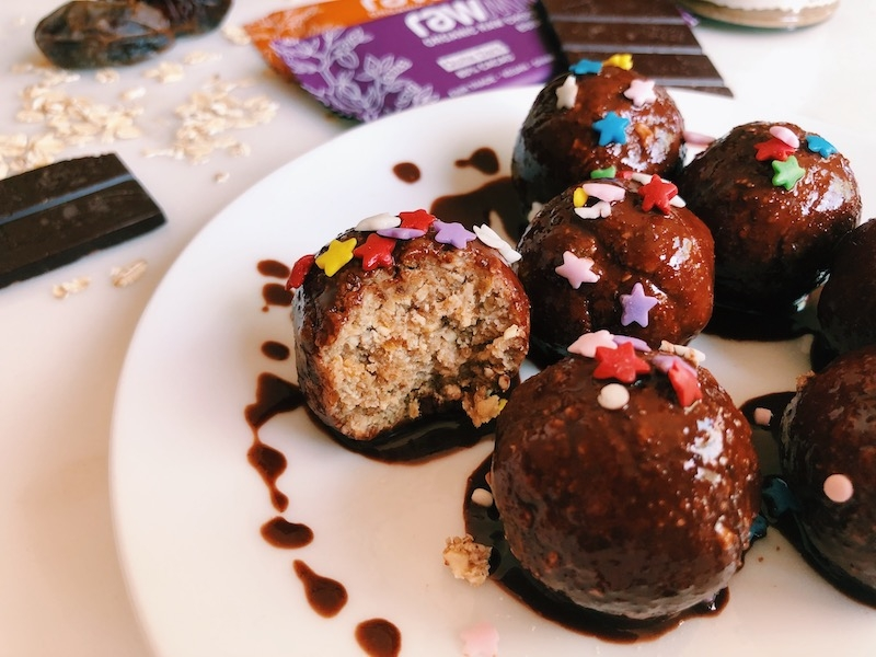 No-Bake Vegan Chocolate Glazed Donut Holes