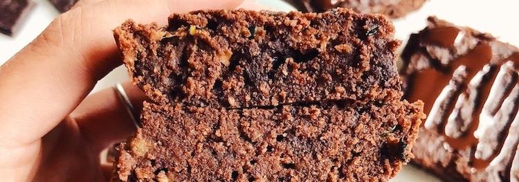 Raw Vegan Paleo Zucchini Brownies