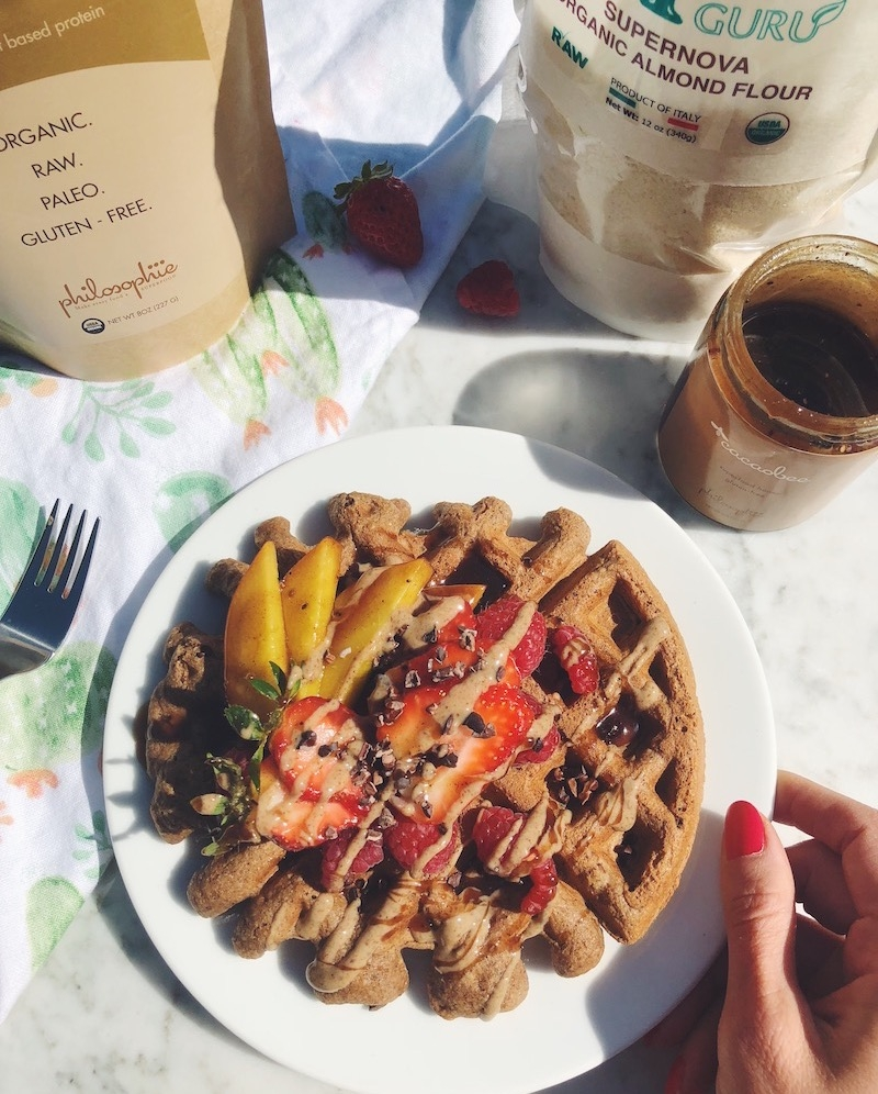 Gluten-Free Chocolate Superfood Waffles
