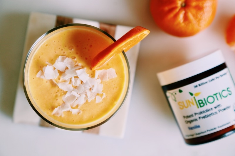 Gut Healthy Probiotic Orange Creamsicle Coconut Shake